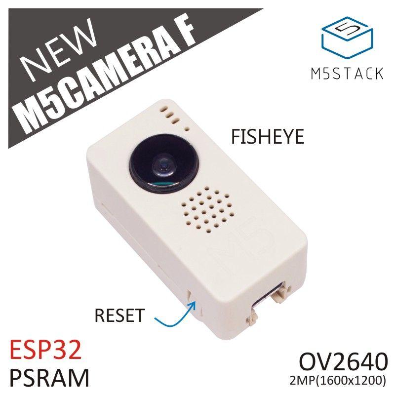 M5Stack nouveau Module de caméra Fish-eye OV2640 Mini caméra Fisheye Demoboard avec carte de développement PSRAM ESP32 GROVE Port TypeC