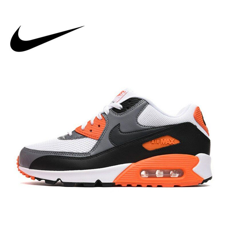 Original authentique NIKE hommes AIR MAX 90 essentiel respirant chaussures de course baskets Sports de plein AIR Tennis Designer athlétique