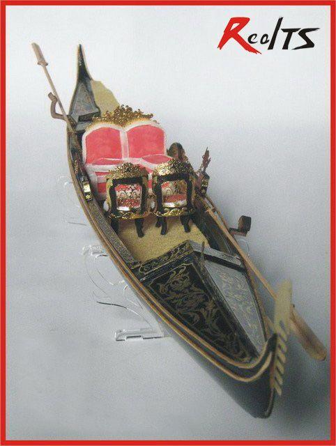 RealTS classique venise yacht modèle échelle 1/20 mariage gondole en bois modèle kit gondole datant bateau