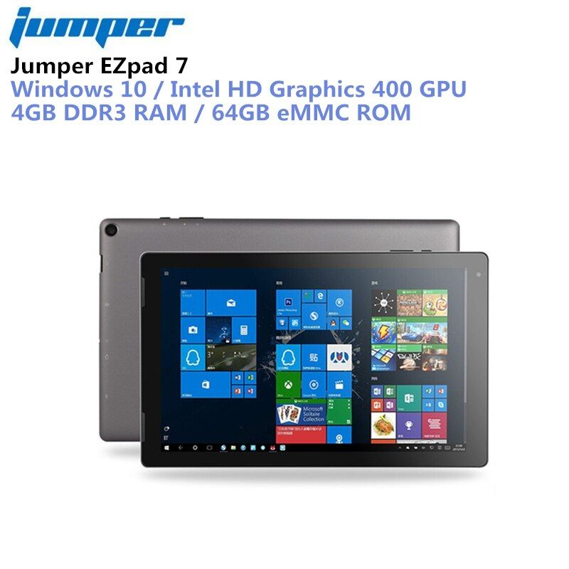 Jumper EZpad 7 Tablet 2 in 1 Tablet PC 10.1'' Windows 10 Intel Cherry Trail Z8350 Quad Core 1.44GHz 4GB RAM 64GB eMMC ROM