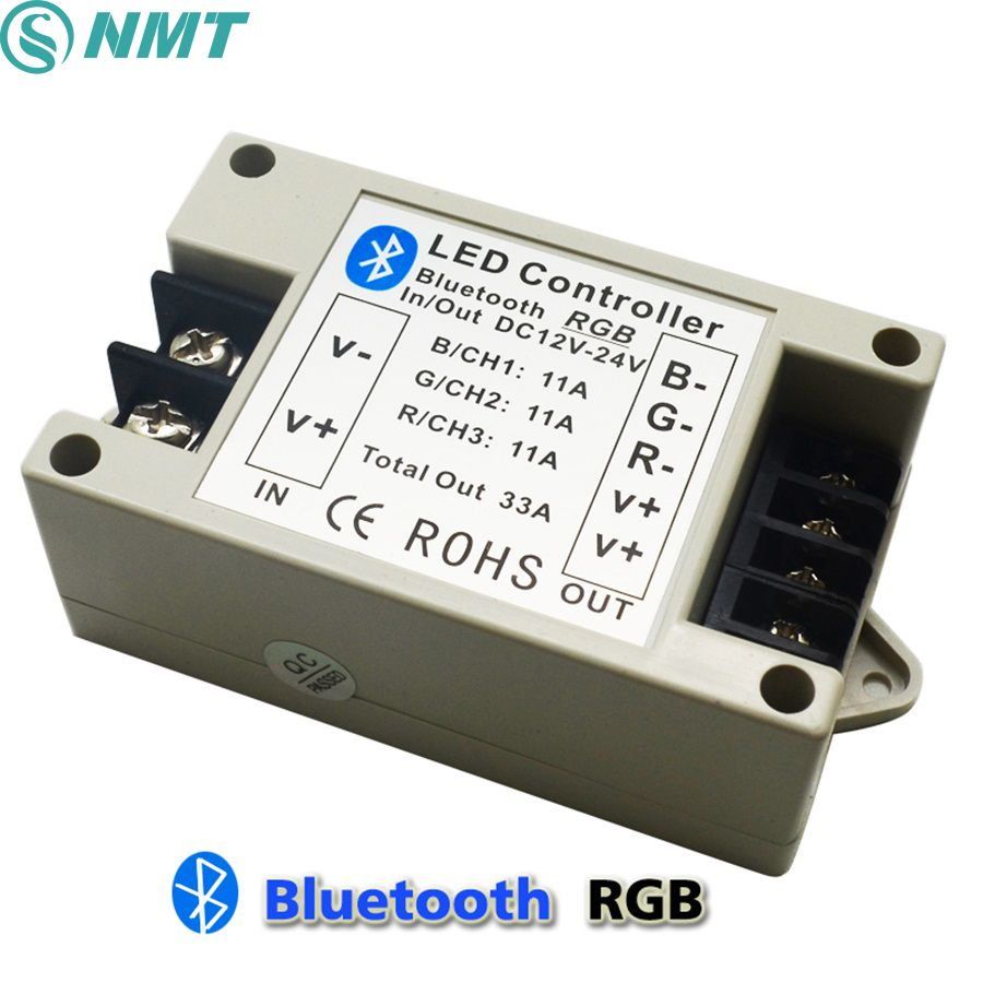 Free shipping, DC12-24V Bluetooth RGB LED Controller by Android/IOS Smartphone for 5050/3528 RGB Led Strip