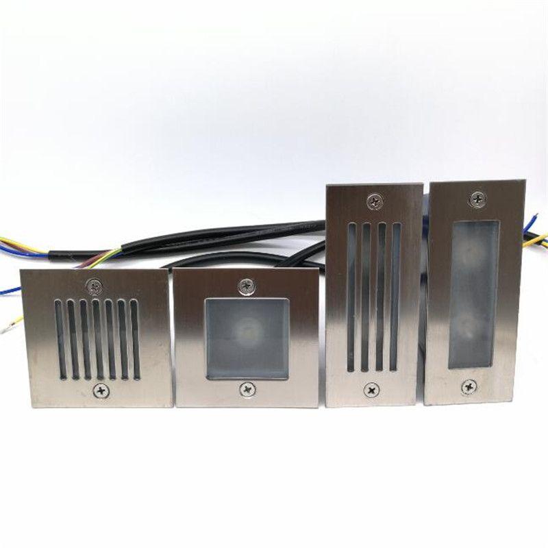 1 pièces livraison gratuite 3 W 2x3 W IP68 LED escalier lumière étape lumière encastré enterré lampe intérieur/extérieur escalier étape lumières 85-265 V