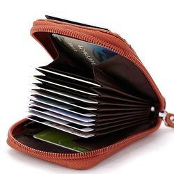 Venta caliente cuero genuino Unisex titular de la tarjeta alta calidad mujer tarjeta de crédito mujeres almohada titular de la tarjeta monedero
