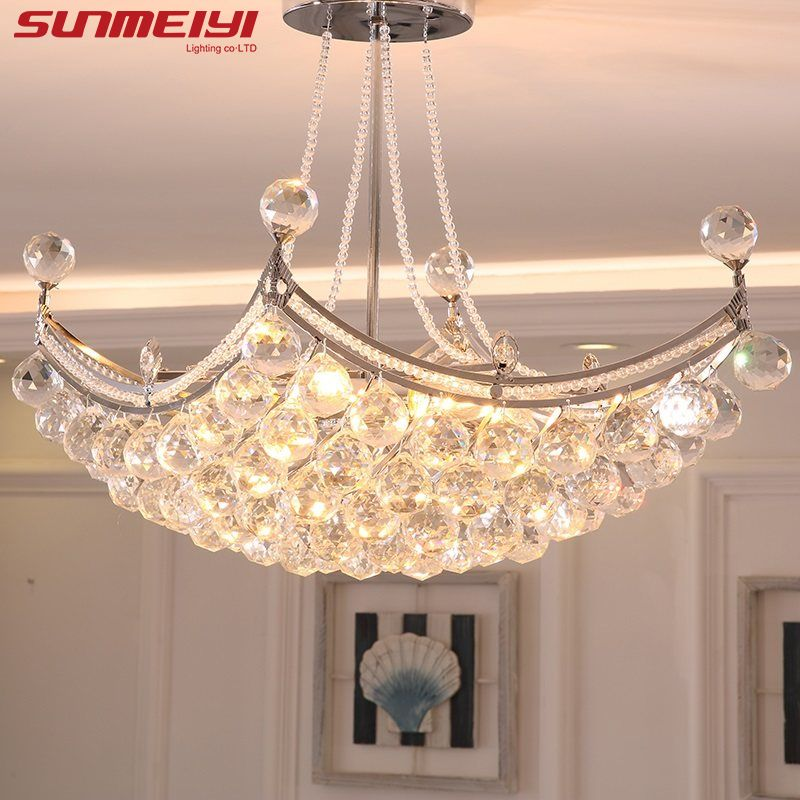 2018 New Style Crystal Chandelier Lighting Fixture Crystal Light Lustres de cristal for Living Room Ceiling Lamp Free Shipping