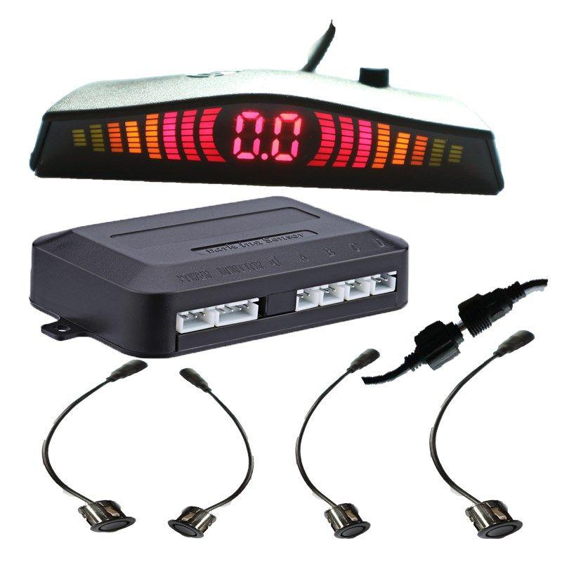 Auto LED Parkplatz Sensor 4 18,5mm Sensoren remova Sensor De Estacionamento Umge Assistance Backup Hintergrundbeleuchtung-anzeigen-rückseiten-unterstützungsradar-monitor-system Brasilien
