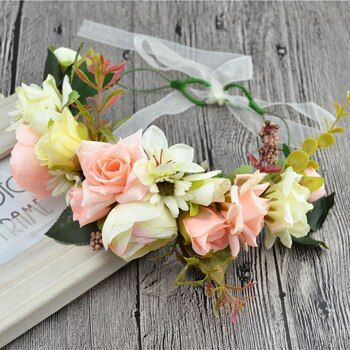Bridal Flower Wreath Women Girl Rose Flower Crown Adjustable 2017 New Hair Accessories Kid Wedding Party