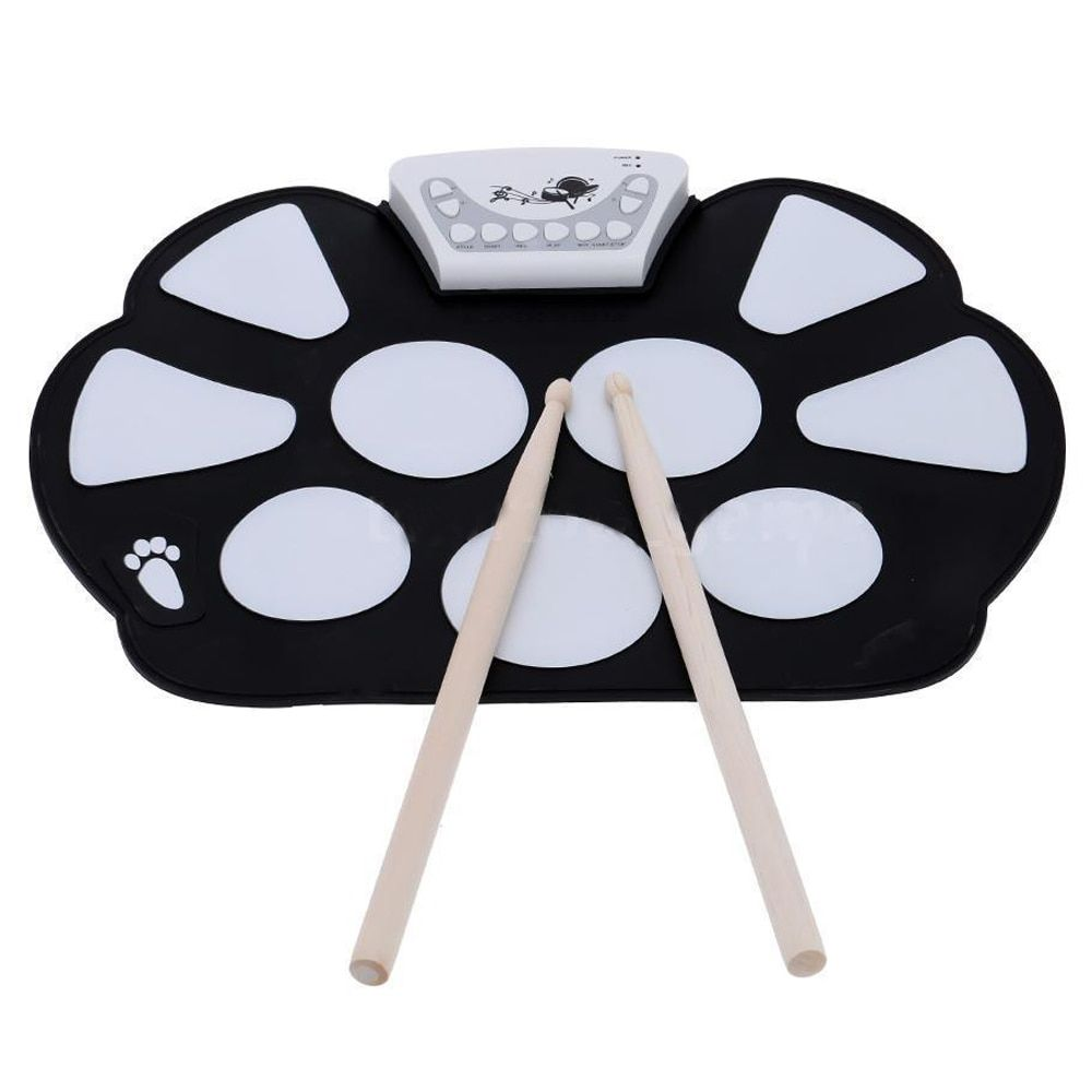 SYDS Electronic Roll up Drum Pad Kit Silicon Foldable with Stick NEW Professional
