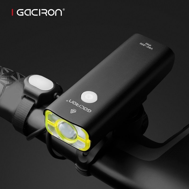GACIRON Cycling WaterProof led lights usb rechargeable mini bike 400 Lumens <font><b>handlebar</b></font> front light bicycle accessories