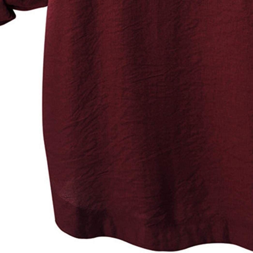 2018 Women O Collar Loose Girl 3/4 Long Sleeve Autunm Plus Size Shirt 5 pieces