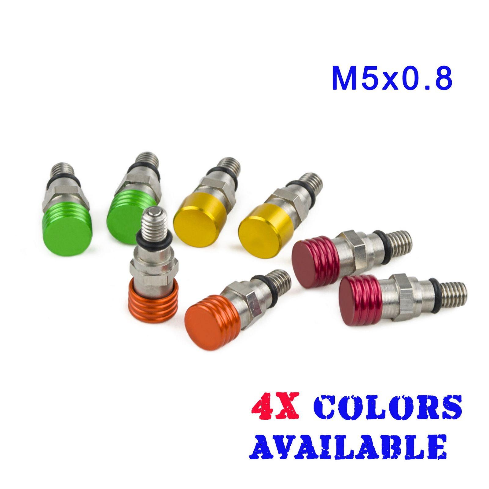 M5x0.8 Motocross Fork Air Bleeders Pressure Relief For Yamaha YZ85 YZ125 YZF250 YZF450 WRF 250 400 426 450 TTR230 TTR250