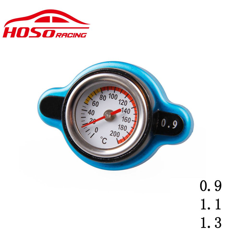 Utility safe Thermo Radiator Cap 0.9 and 1.1 and 1.3 bar  Tank Cover Temperature Gauge
