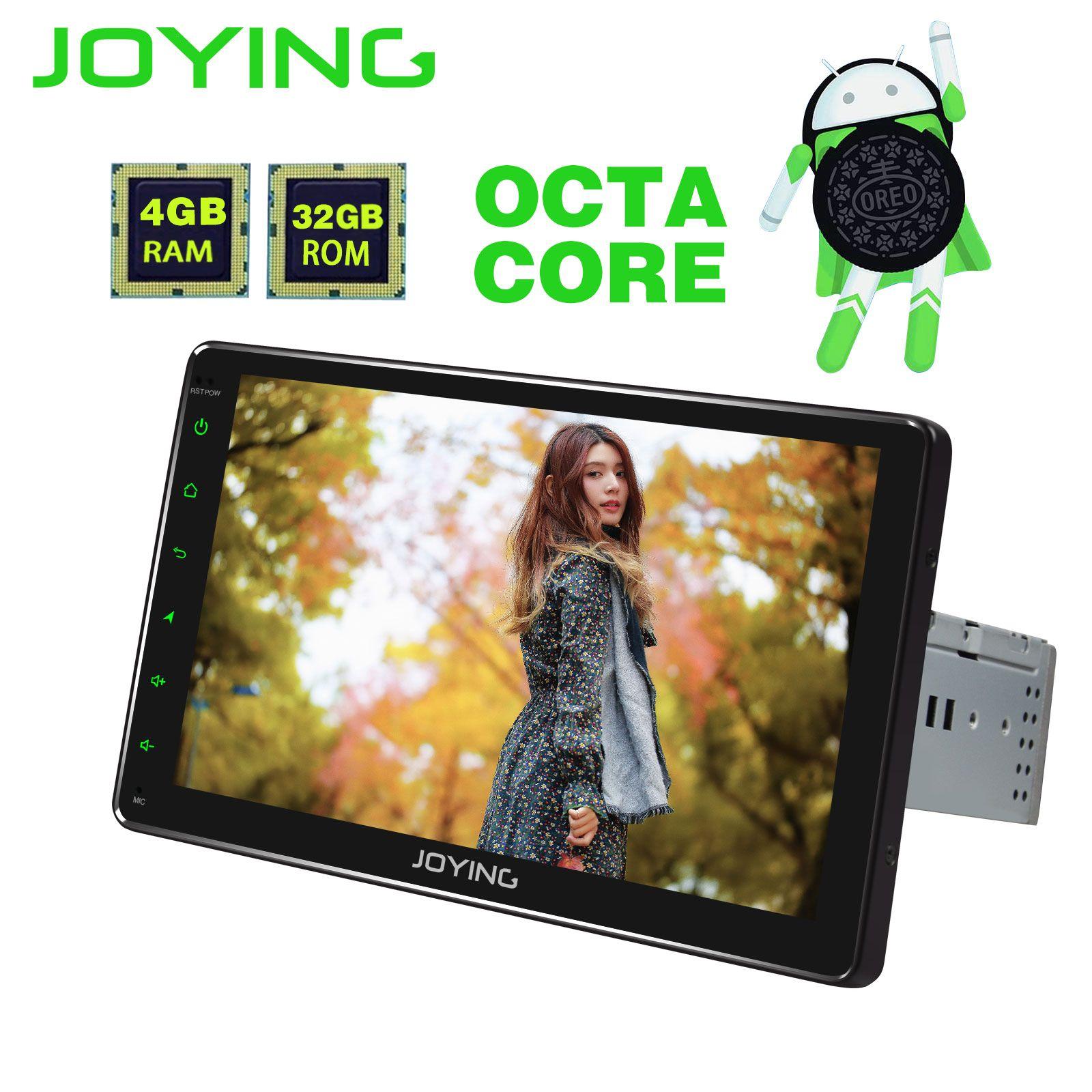 JOYING 4 GB + 32 GB Octa Core Android 8.1 autoradio einzel din stereo audio voice befehl DSP WIFI GPS universal kopf einheit 9 SWC HD