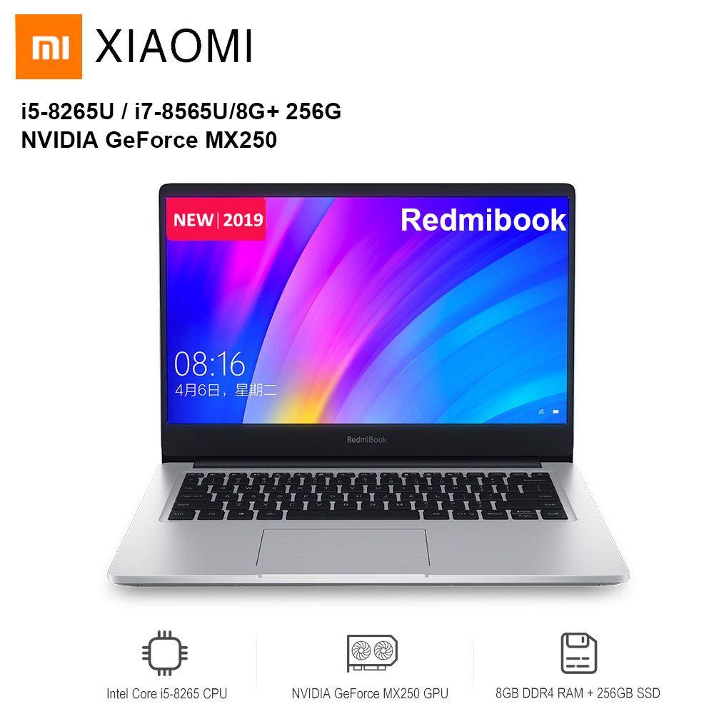 2019 Xiaomi Redmibook 14 Laptop Intel Core i5-8265U/i7-8565U NVIDIA GeForce MX250 8 GB DDR4 256 GB/512 GB SSD Ultra Dünne Notebook