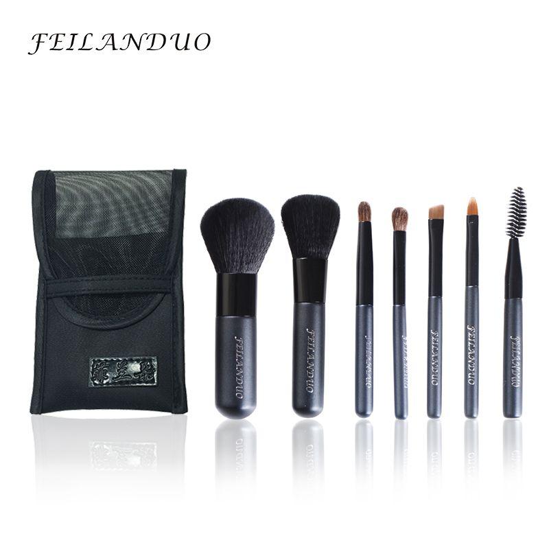 FEILANDUO Professionnel Maquillage Brush Set 7 pcs Haute Qualité Fiber De Laine Maquillage Outils Cadeau Avec Lavage Savon Maquillage Brosses