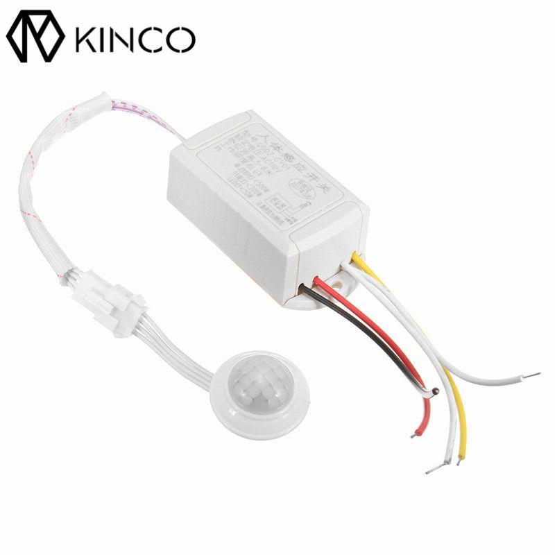 KINCO AC110V Automatische ON/OFF Sparen Energie Smart Home Weiß 6 LUX PIR + Lichtsteuerung Intelligente Licht Körper Sensorschalter