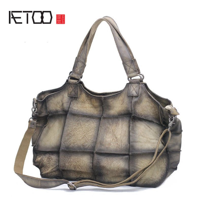AETOO The first layer of leather leather handmade Mature female atmosphere shoulder shoulder Messenger bag Europe and the United