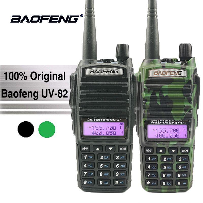 Baofeng UV-82 Talkie Walkie 10 km Double PTT Two Way Radio Dual Band Portable UV 82 Émetteur-Récepteur UV82 Woki Toki jambon CB Radio Station