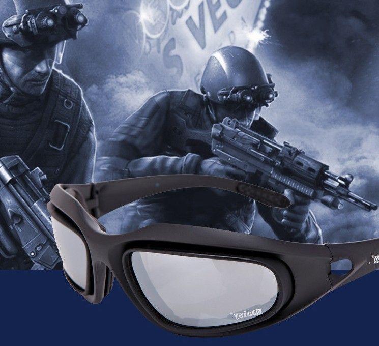 Поляризационные FS X7 Военная Униформа очки пуленепробиваемые армии Солнцезащитные очки для женщин 4 линзы мужские C5 UV400 Стрельба Тактически...