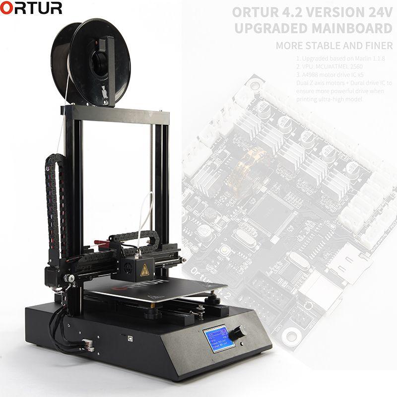 Ortur 3D Drucker Verbesserte Hohe Qualität Extruder Plus Größe LCD12864 Bildschirm Desktop Schnelle Installieren Günstige 3d Drucker Kit impresora 3d