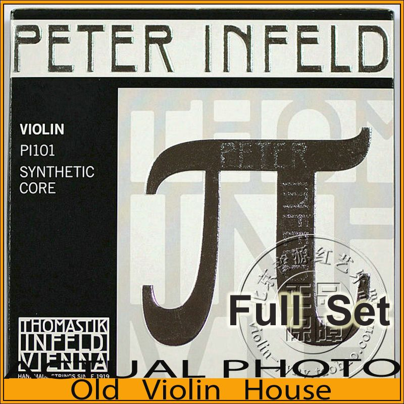 Original Thomastik Peter Infeld (PI101) Violin Strings , Tin plated E--Silver D, Full set,made in Austria ,Free shipping