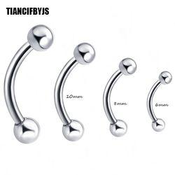 TianciFBYJS 1 pcs Penis Clicker Catpive Pisang Hidung Rings Ear Alis Lip Nipple Piercing Tubuh Perhiasan Tragus Telinga Helix Bar