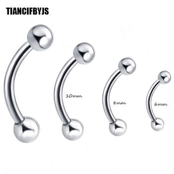 TianciFBYJS 1pcs Catpive Banana Nose Rings Ear Eyebrow Lip Nipple Penis Clicker Piercing Body Jewelry Tragus Ear Helix Bar
