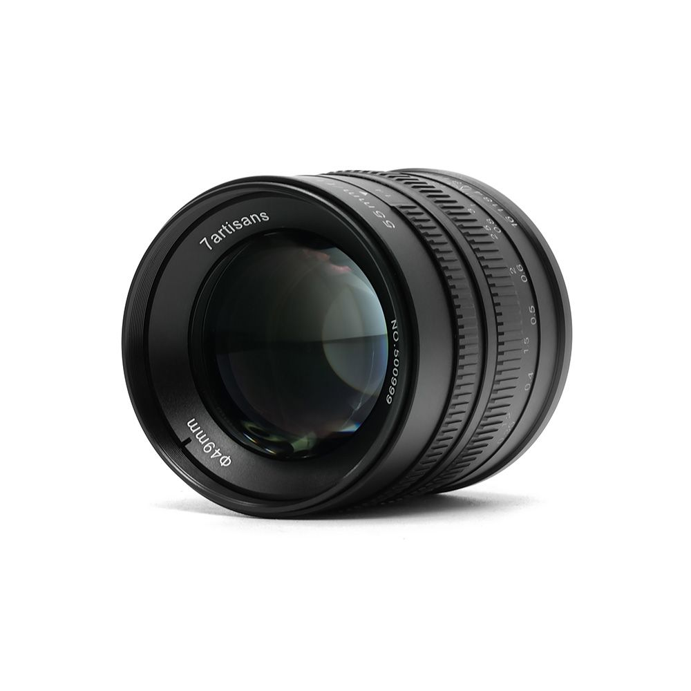 7artisans 55mm F1.4 Prime Lens to Single Series for Sony E Mount for Canon EOS-M Mount Cameras A6000 A6300 A6500 M1 M2 M3 M5 M6