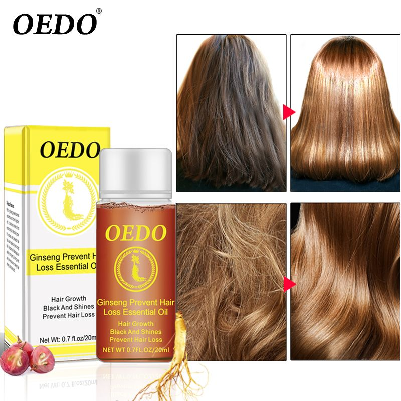 20ML Ginseng Hair Growth Essence Preventing Hair Loss Liquid Damage Hair Repair Treatment Dense Fast Restoration Hair Growth