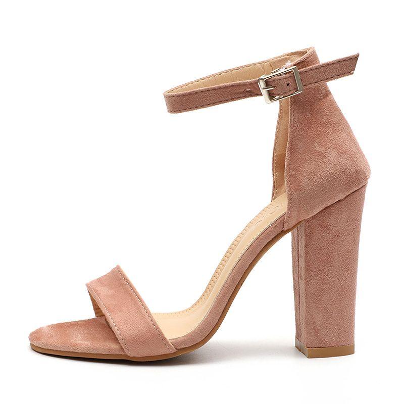 Women Pumps Fahion Peep Toe High Heels Sandals For Women Summer Shoes Buckle Strap Casual Pumps Women Shoes Plus Size 34-43