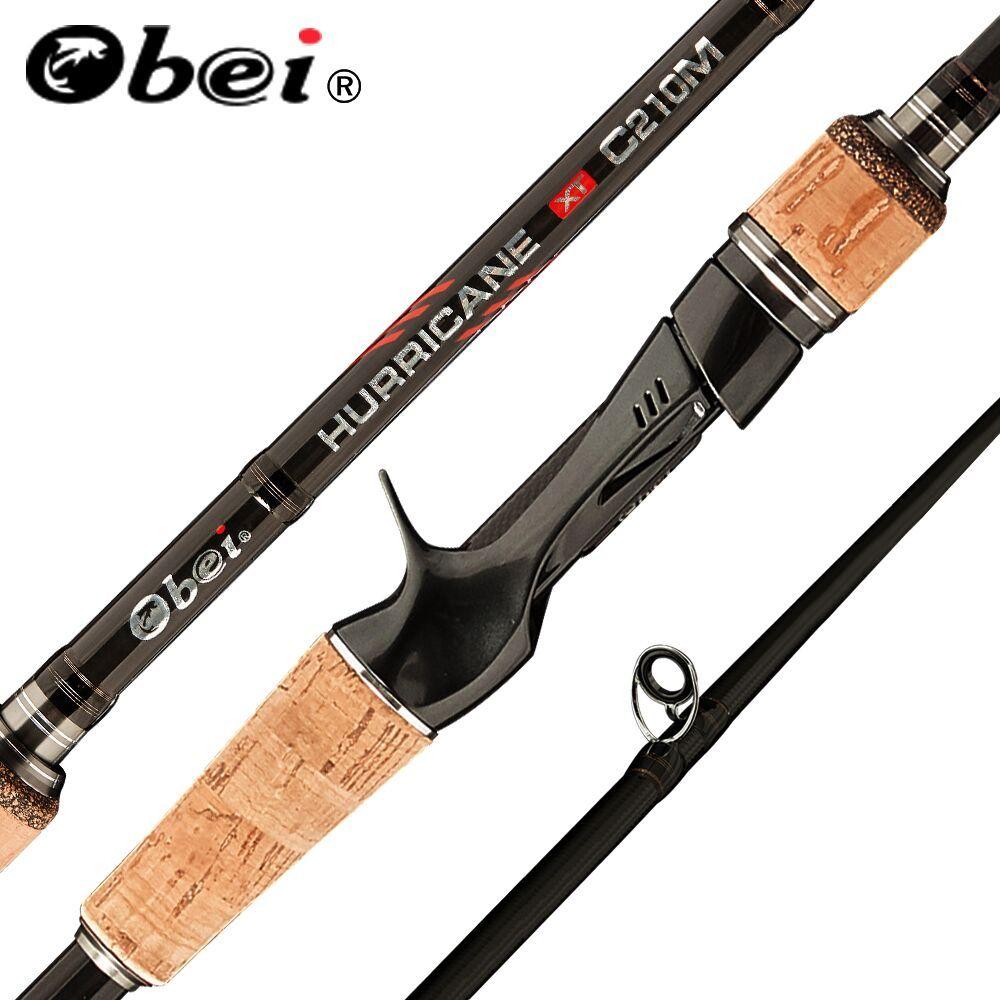 Obei perigee 1.8m 2.1m 2.4m 2.7m 3 section baitcasting canne à pêche voyage ultra léger coulée filature leurre 5g-40g M/ML/MH rod