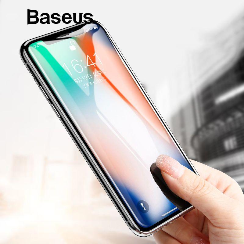 Baseus Screen Protector Für iPhone X Gehärtetem Glas Ultra Dünne Anti Blau Licht Volle Bildschirm Vordere Abdeckung Für iPhone X glas Film