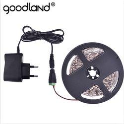 Goodland RGB Светодиодные ленты 12 V SMD3528 5 м Светодиодная лента световой полосы Гибкая Диодная лента 2A DC12V красного, зеленого и синего цвета цвет: же...
