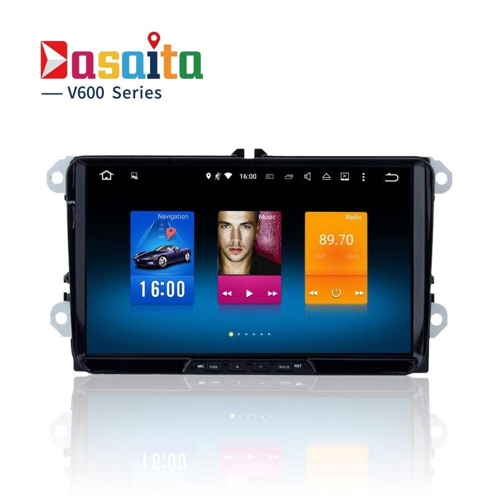 car 2 din Android stereo Head Unit for PASSAT Golf GTI polo tiguan Permanent radio navi GPS RDS 4Gb+32Gb Android 8.0 PX5 8-Core
