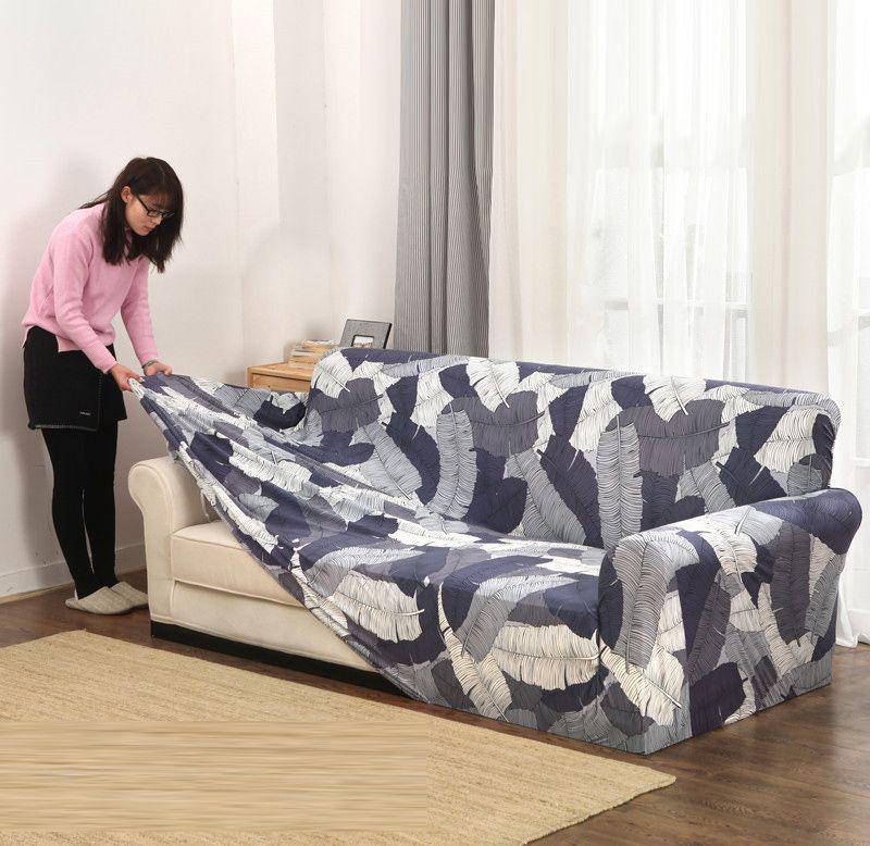 Housse de canapé extensible pour salon housse de canapé élastique sectionnelle antidérapante canapé serviette simple/deux/trois/quatre places