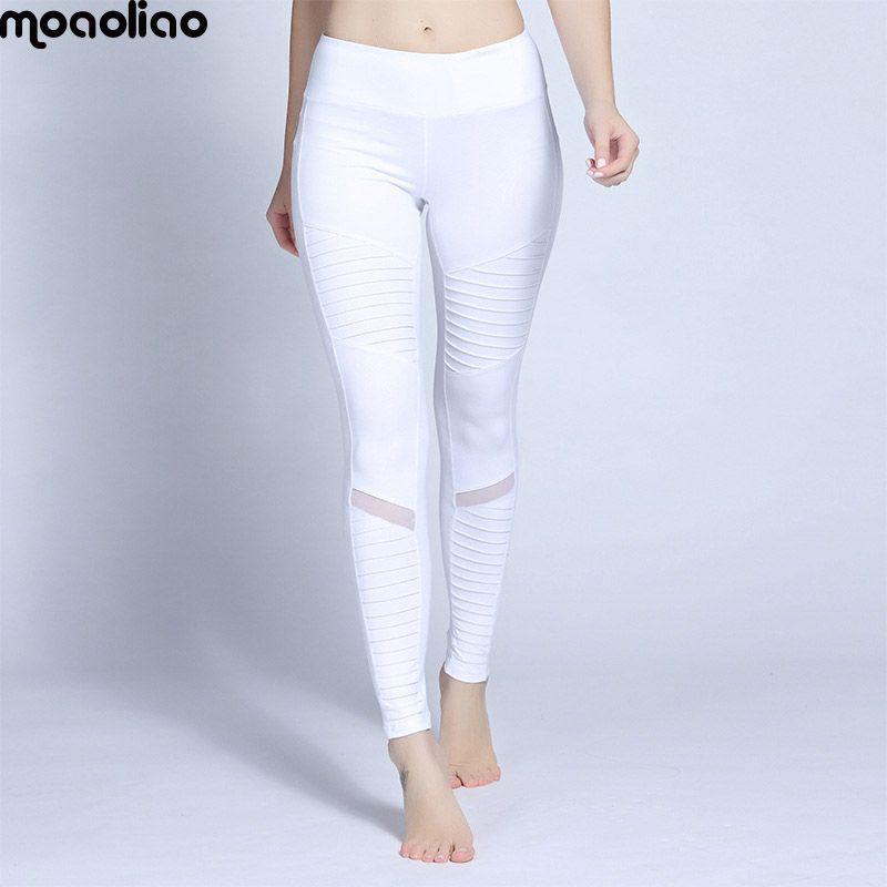 Fitness Sportwear Trousers Leggings Autumn Pleated Mesh Compression Women Sports Yoga Pants Gym Running <font><b>Training</b></font> Dancing Tights