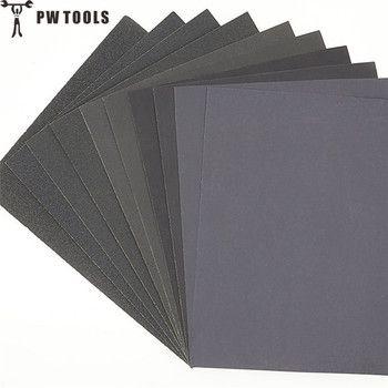 PWTOOLS 5 pcs Superfine Papier de Verre Brossé D'eau Ponçage Papier De Polissage Outils De Meulage Grit60 80 120 240 1000 2000 Papier Abrasif
