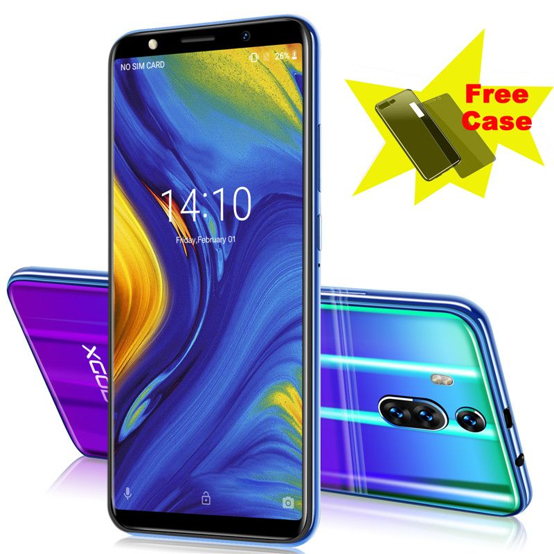XGODY New celular 3G 1GB RAM 8GB ROM Mobile Phone 6 Inch 18:9 Full Screen Smartphone Android 8.1 2800mAh Mate RS Telefone