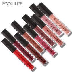 FOCALLURE Liquid Lipstick Hot Sexy Colors Lip Paint Matte Lipstick Waterproof Long Lasting Lip Gloss Lip Kit Makeup