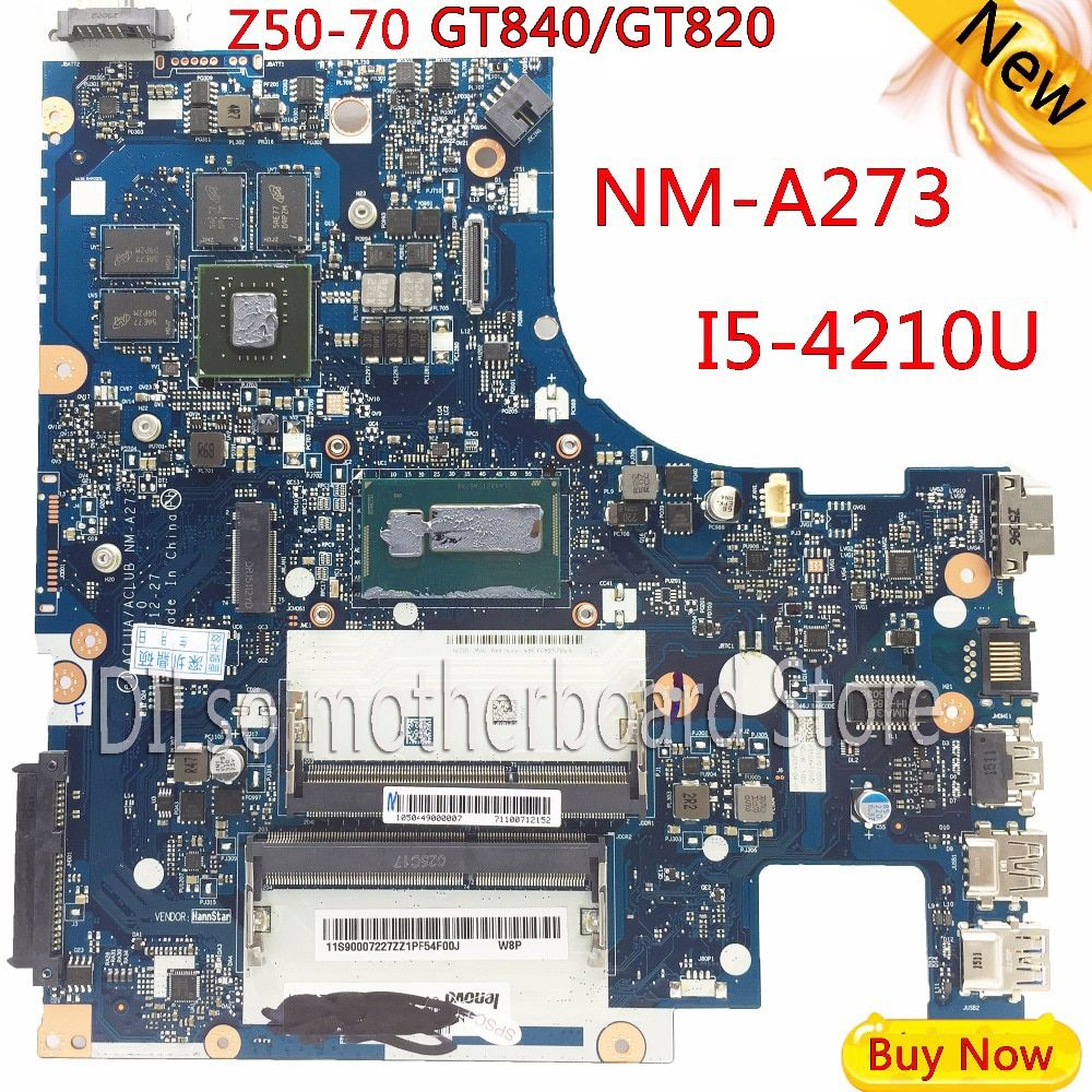 KEFU G50-70M For Lenovo G50-70 Z50-70 i5 motherboard ACLUA/ACLUB NM-A273 Rev1.0 with GT820M/GT840M graphics card Test