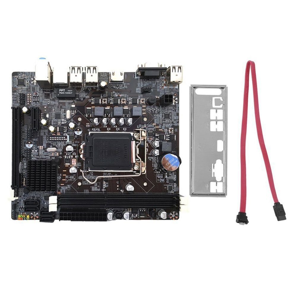 Professional H61 Desktop Computer Mainboard Motherboard 1155 Pin CPU Interface Upgrade USB2.0 DDR3 1600/1333