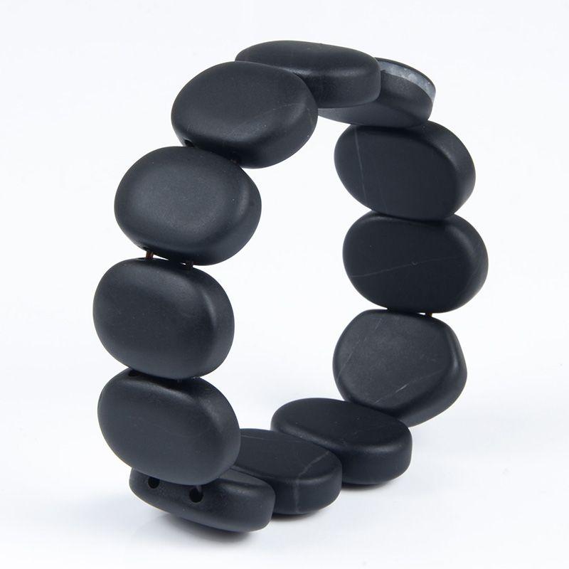 100%Quality Real Bianshi Black Bian Natural Stone Bianshi Bracelet Carve Black Bracelet For Men&Women jewelry