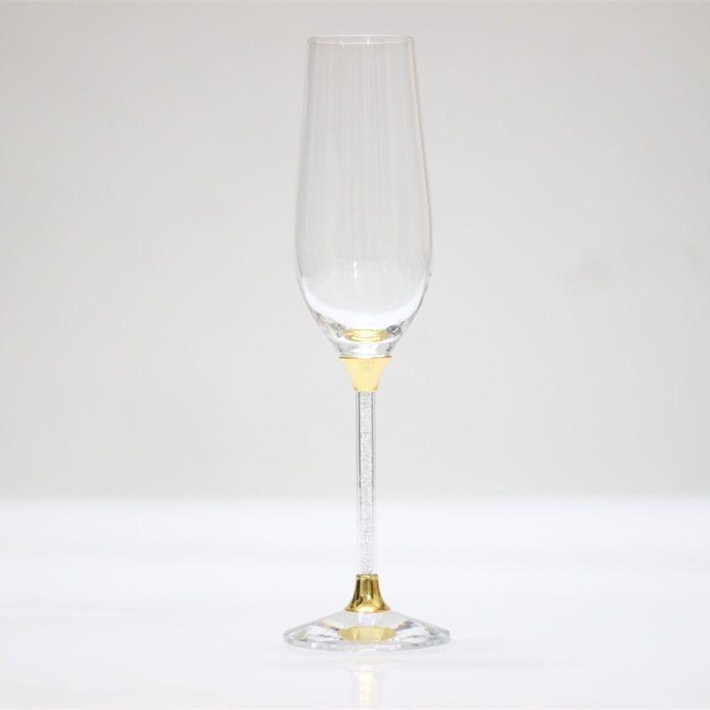Cristal d'or lunettes de mariage personnalisé champagne verre à vin cadeaux décoration verres à boire
