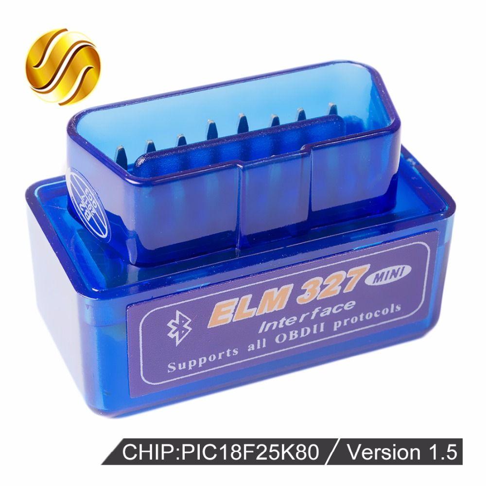 Versión V1.5 Super MINI Bluetooth ELM327 ELM 327 PIC18F25K80 Viecar 1.5 OBD2/OBDII para Android Torque Car Del Lector