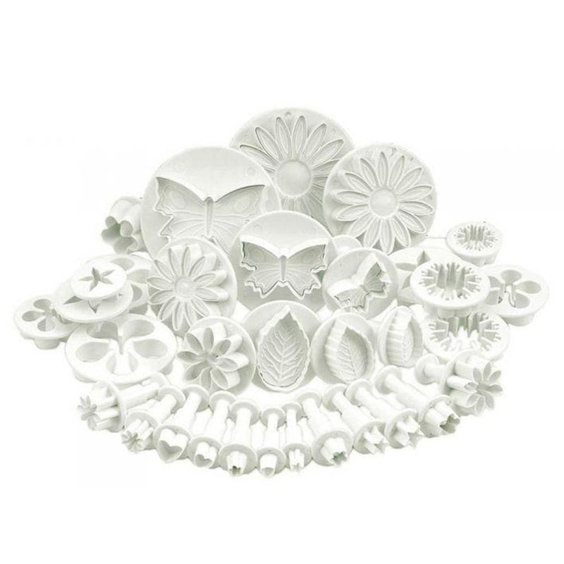 33 pièces/ensemble en plastique fleur Fondant gâteau décoration outils sucre artisanat plongeur Cutter cuisson biscuits moule cuisine outil