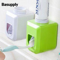 Basupply 1 unid nuevo manos libres automático dispensador de pasta de dientes exprimidor exprimir montaje en pared accesorios de baño 4 colores
