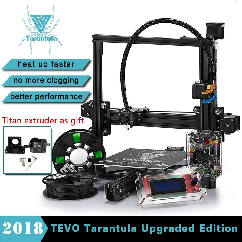 (Only Germany)TEVO Tarantula I3 Aluminium Extrusion 3D Printer kit printer 3d printing 2 Rolls Filament 1GB SD card LCD As Gift