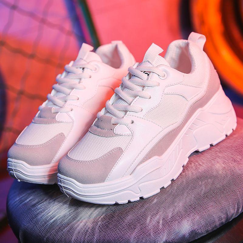 Femmes chaussures 2019 nouvelles baskets Chunky pour les femmes vulcaniser chaussures décontracté mode papa chaussures plate-forme baskets Basket Femme Krasovki