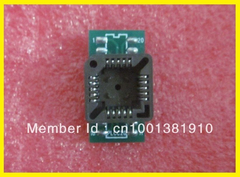 Free shipping!!!10PCS/LOT PLCC Adapter PLCC20 to DIP20 for USB universal Programmer Socket for TL866CS/TL866A/EZP2010/G540/SP300
