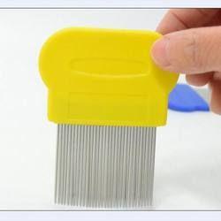 Tujuan ganda 8 CM logam stainless steel sisir kutu kutu sisir detangle sikat rambut untuk perawatan rambut pembersih hairdressing styling alat