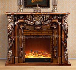 Камин Делюкс W150cm деревянный в европейском стиле мраморный плюс Электрокамин вставной блок горелки искусственный светодиодный оптический ...